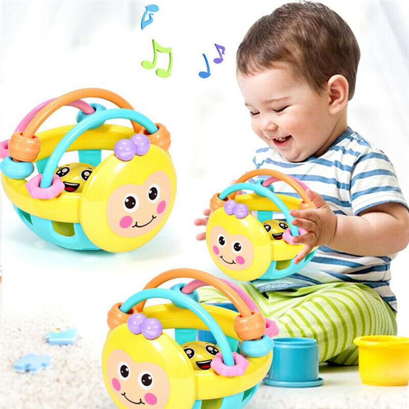 Funny Cartoon Baby Shake Bell Rattles Ball Newborn Intelligent Educational Toys