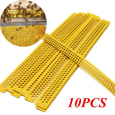 10pcs 3-rows Bee Pollen Traps Collector Hive Pickup Beekeeping Honeycomb Tools