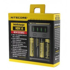 Nitecore NEW I4 - 2017 Intelligent 18650 26650 20700 21700 Vape Battery Charger