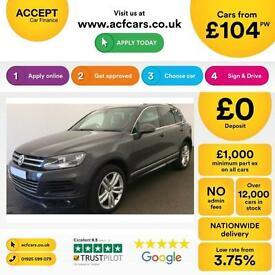Volkswagen Touareg FROM £104 PER WEEK!