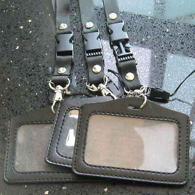Business Id Card Badge Holder Strap Lanyard Horizontal