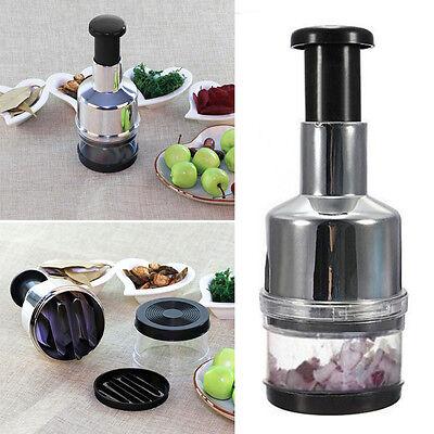 Edelstahl Fruchtsalat Gemüse Zwiebel Hand Chopper Slicer Cutter DE HOT SELL Salat Cutter