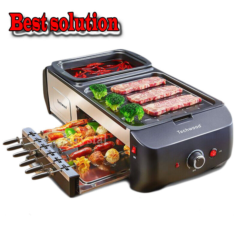 multifunctional electric griddle hot pot and barbecue