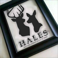*** Great Wedding Gifts - Custom Family Name Frames ***