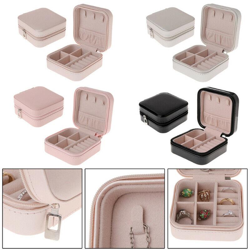 Women Travel Portable Jewellery Box Makeup Case Organizer Packaging Storage Case