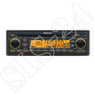 Continental CDD7418UB-OR CD / MP3-Autoradio Bluetooth DAB+ Radio inkl. Antenne