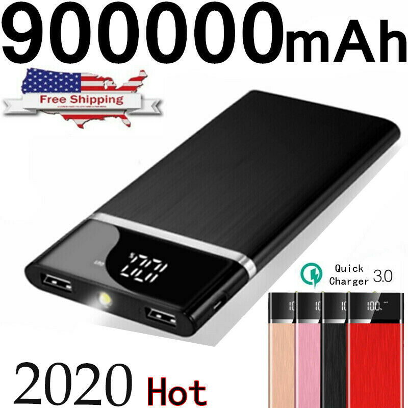2019 New Portable External Battery Huge Capacity Power Bank 900000mAh Charger Cell Phone Accessories