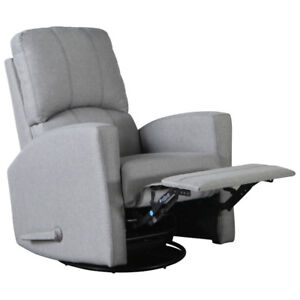 *new* Kidiway Varadero Swivel Glider Recliner - Light Grey