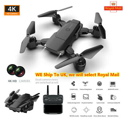 K2 2.4G RC Drone FPV Wifi 4K HD Camera Quadcopter 3 Batteries Folding 4CH 6Axis
