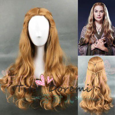 Halloween Wig Costume Game of Thrones Queen Brown Cosplay Heat Resistant - Halloween Queen Hair