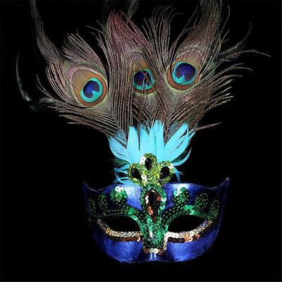 Pfau-Feder-venetianische Karneval-Maskerade-Schablone-Partei-Kostüm - Karneval Maskerade Kostüm