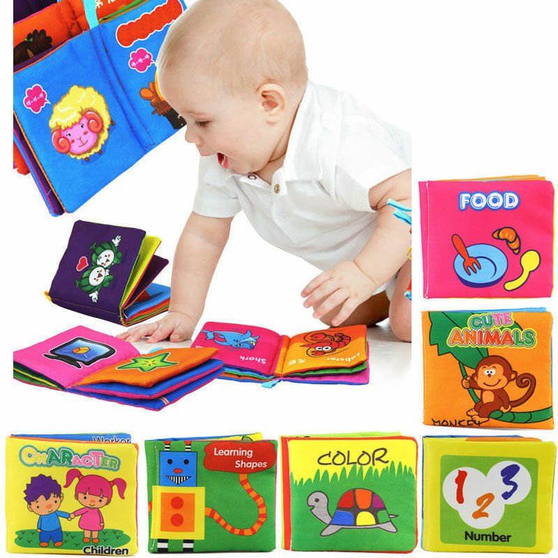 Children S Fabric Book Cover : Soft cloth baby learning book kid child intelligence
