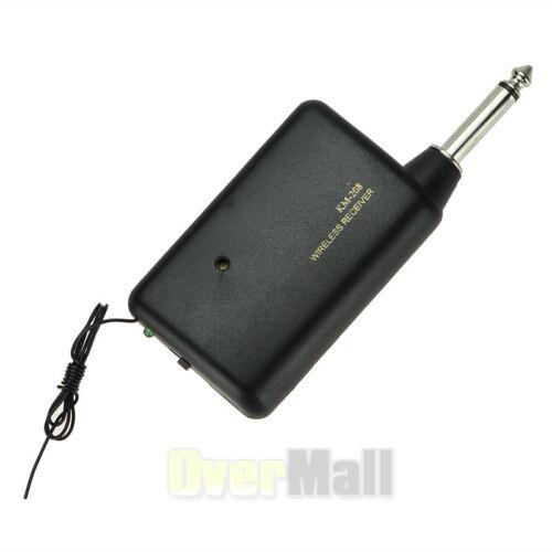 2 x Wireless FM Transmitter Receiver Lavalier Lapel Clip Microphone Mic System