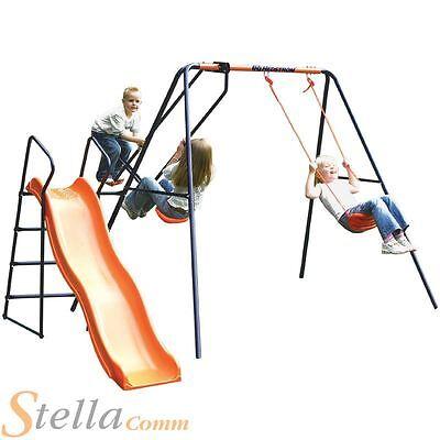 Hedstrom Saturn Kids Garden Swing Glider Slide Childrens Playset