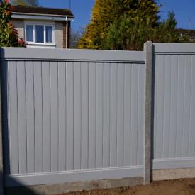 Light grey pvc fence panels. 6ft x 6ft brand new