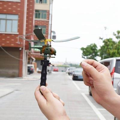Pull String Handle Educational Helicopter Fun Outdoor Kids Boy Toys Xmas Gift