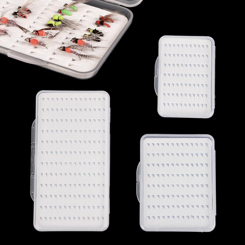 Plastic Fly Fishing Box Fishing Hook Box Slim Foam Insert Fishing Tackle Box