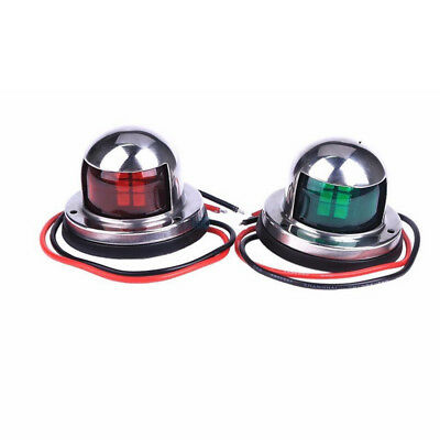 Red+Green Lights Marine Boat Yacht 12V Stainless Steel House LED Bow Navigation for sale  Shipping to Canada