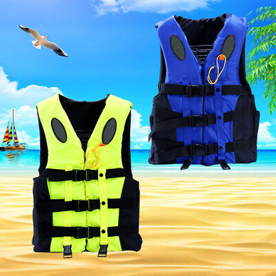 S-3XL Kid/Adult Sailing Boating Flood Rescue Life Jacket Safety Vest 240D Oxford