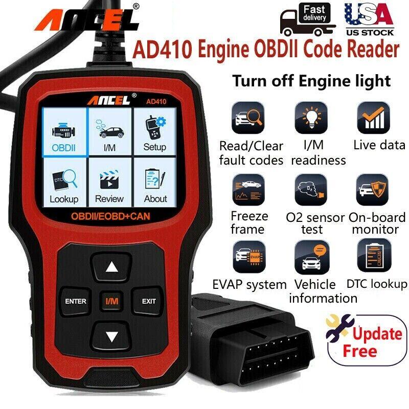ANCEL AD410 Universal EOBD Automotive Car Code Reader Check Engine Scanner Tool