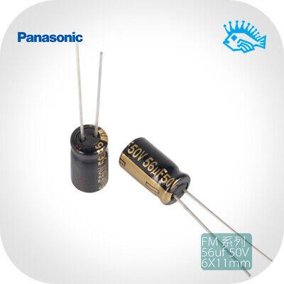56uf 50v Panasonic Fm Series Low Esr Fever Audio Electrolytic Capacitor 6x11