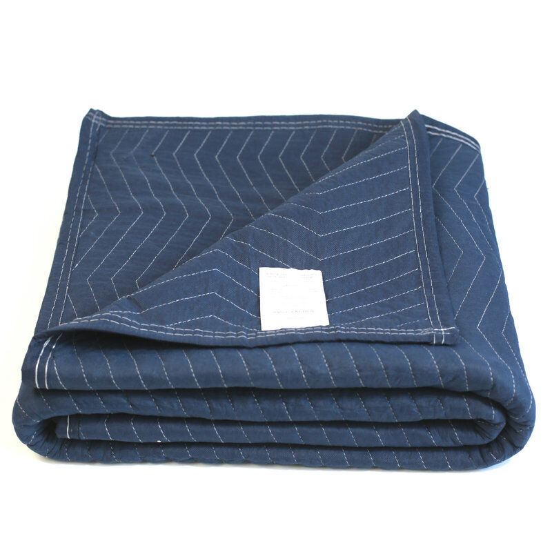 Moving Blanket Deluxe Pro 45lb/dz Quilted Shipping Furniture Pads 72x80 Blue