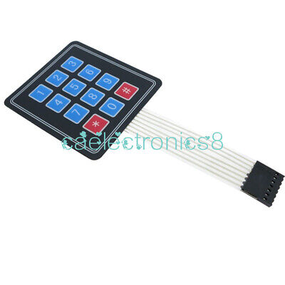 4 X 3 Matrix Array 12 Key Membrane Switch Keypad Keyboard For Arduinoavrpic