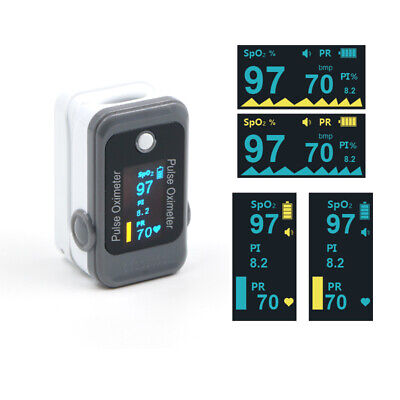 Us Stock Fda Approved Finger Pulse Oximeter Color Oled Spo2 Heart Rate Free Case