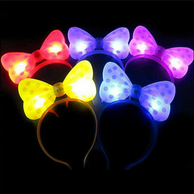Led Headband Lights (LED Lighting Headband Ox Horn Bow Shape Glow Ears party B-day 8 pcs Multi)