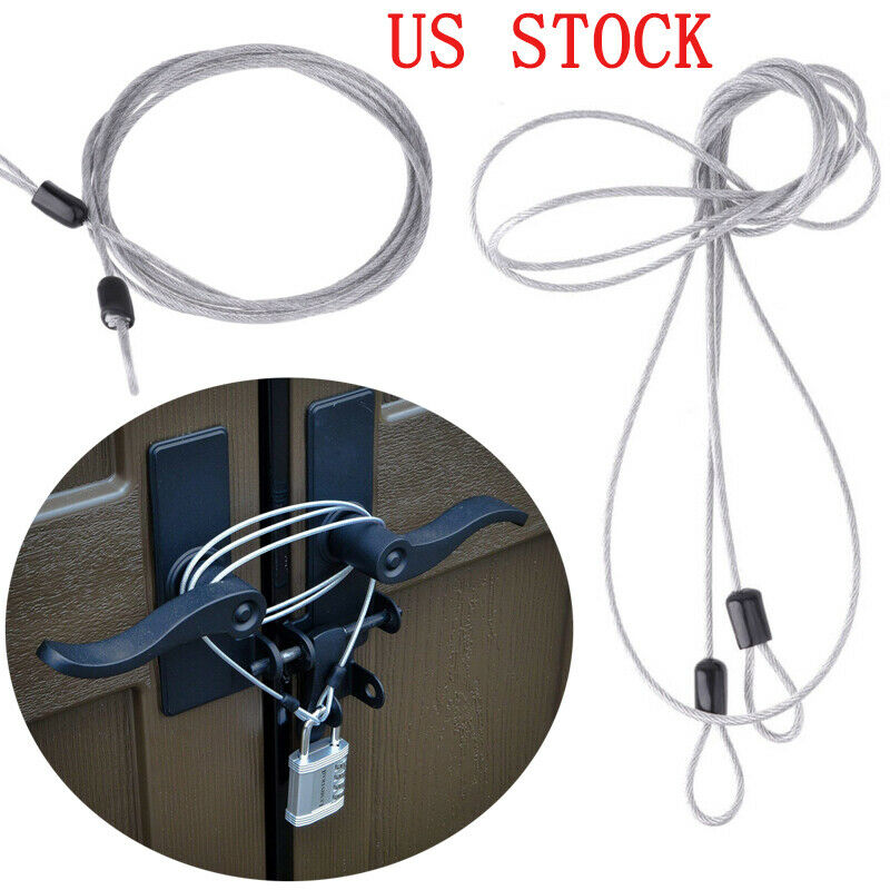 2x Braided Steel Double Loop Cable Lock Security Chain Lock for Luggage Bike US