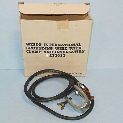 Wesco International Grounding Wire W  Clamp   Insulation 272032  New In Box