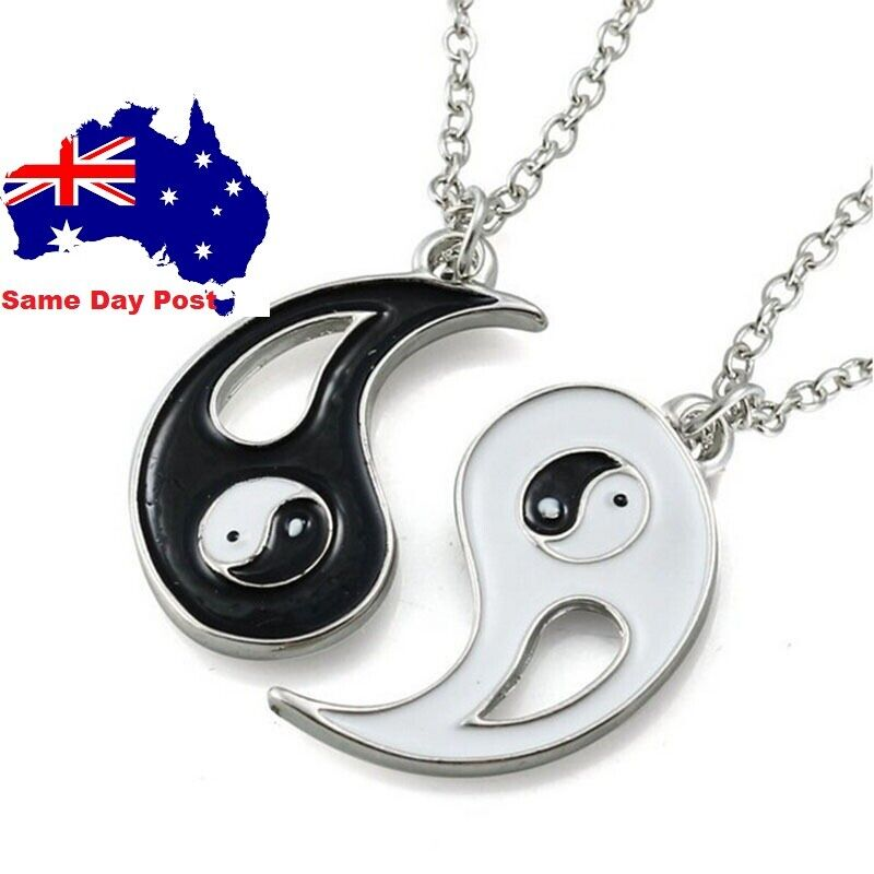 Jewellery - Ying Yang Pendant Necklace Chain Couple Friend Friendship Jewellery Gifts BFF