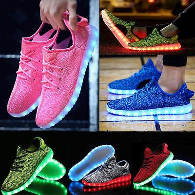 Men's 7 Color LED Luminous Shoes Breathable Sneakers Boys Girls Unisex Shoes