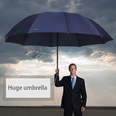 Large Rain Umbrella Windproof Folding Anti Uv Men Women Oversized Big Umbrella
