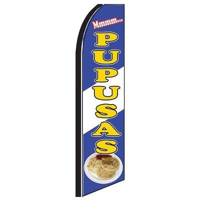 Pupusas Half Curve Premium Wide Swooper Flag