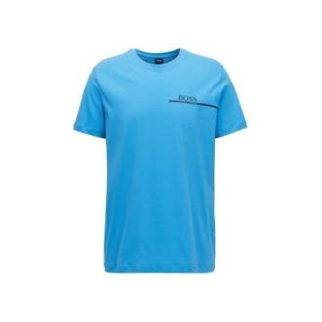 HUGO BOSS T-SHIRT CREW NECK 24 LOGO VAN KATOEN BRIGHT BLU...
