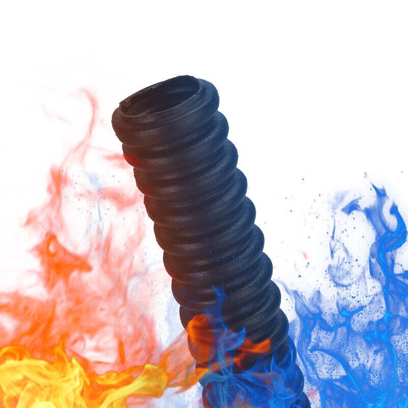 Conduit Corrugated  Wire Loom Flex Cable Choose Hot Sizes Black Plastic Tube Lot
