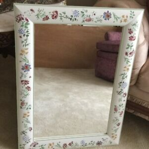Ikea Painted Floral Mirror - like new - Measures 20 x 27 inches