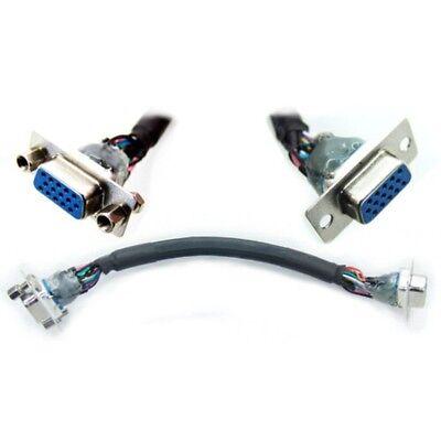 VGA Pared Placa Frontal Panel Montaje Talón Cable ,17cm ,Flexible Extremos, F/F