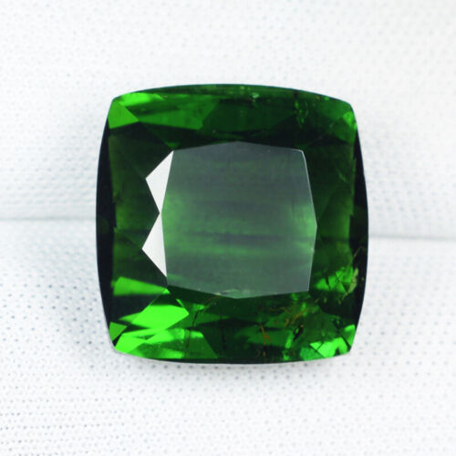 14.50 ct TOP LUSTROUS BEST GREEN - NATURAL TOURMALINE - Cushion See Vdo  6094