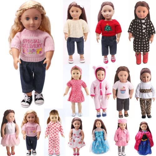 "Fits 18"" Inch American Girl Madame Alexander Handmade fashion Doll Clothes dress"