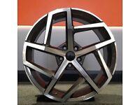 """19"""" GTI-8 Style Alloy Wheels 5x112 will fit Golf MK5, MK6, MK7, Jetta, Passat, Caddy Etc"""