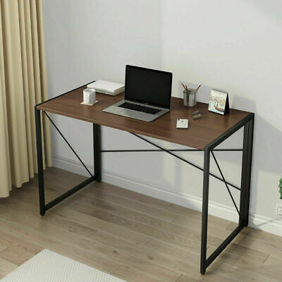 Folding PC Computer Desk Writing Study Table Office Home Foldable Workstation