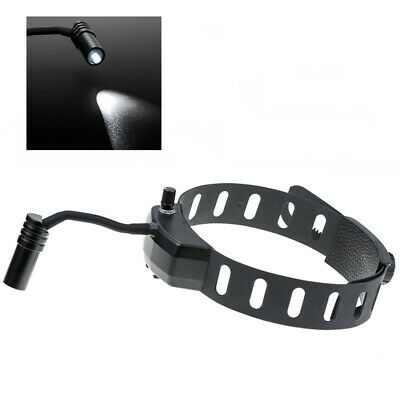 5w Led Dental Surgical Head Light Good Light Spot Headband Ent Specific Black