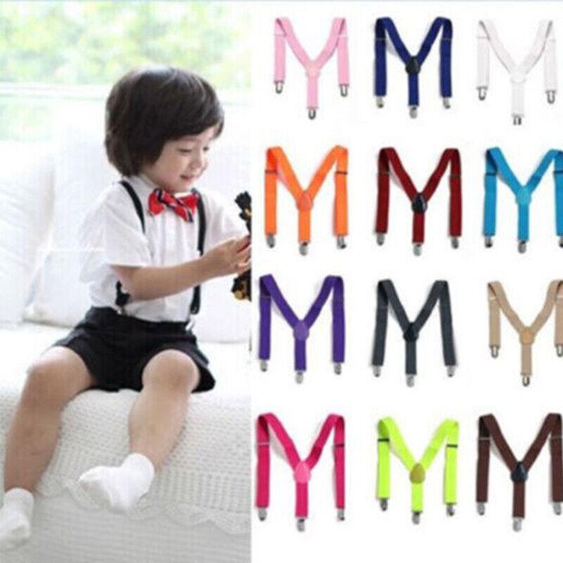 Children Kids Clip-on Adjustable Pants Y-back Suspender Braces Elastic Belt