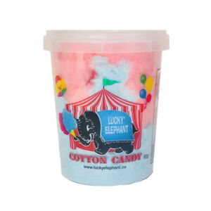 S112 - LUCKY ELEPHANT PRE-PACKAGED CANDY FLOSS TUBS - 24 TUBS
