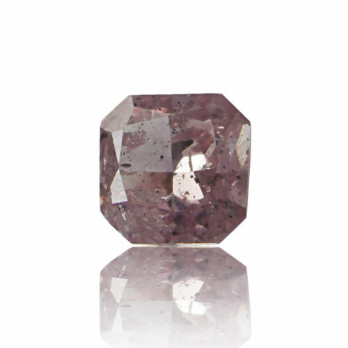 Pink Diamond 0 .10 Ct GIA Certified Loose Natural Square Cut Nice Fancy Color
