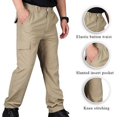 Mens Soldier Tactical Pants Casual Waterproof Pants Combat Outdoor Hiking Us!
