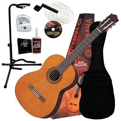 Yamaha C40 PKG Classical Guitar GigMaker Starter Pack COMPLETE GUITAR BUNDLE Classical Guitar Starter Pack