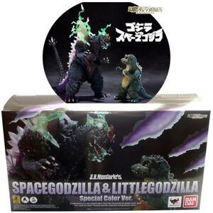 Tamashii Limited S.H.MonsterArts SpaceGodzilla & Little Godzilla Special Color